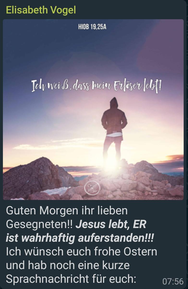Grußwort zum Ostergottesdienst